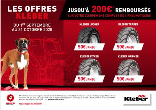 Campagne agricole pneus KLEBER