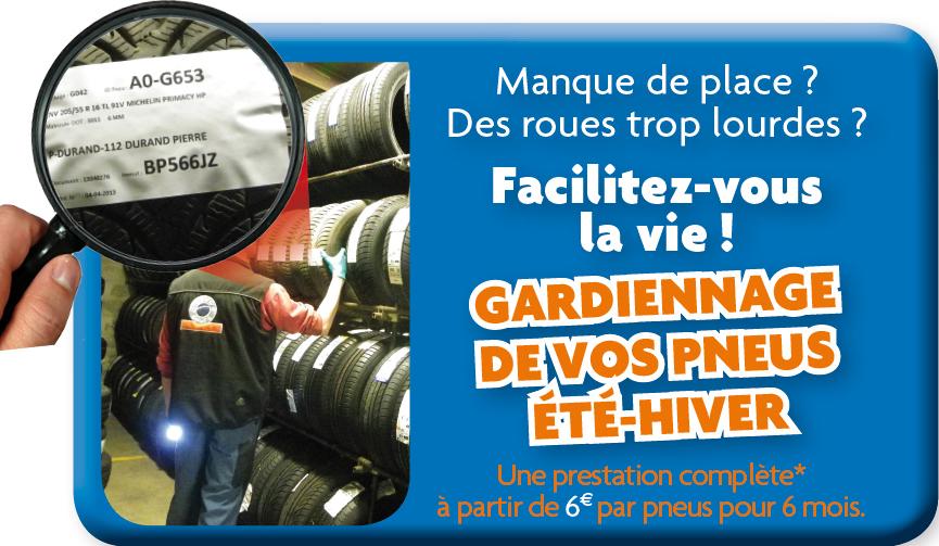 Prestation de gardiennage pneus été et hiver dans nos ateliers